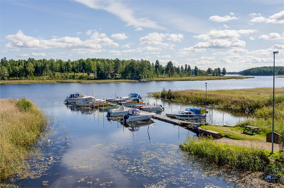 Båthamn i Boänge