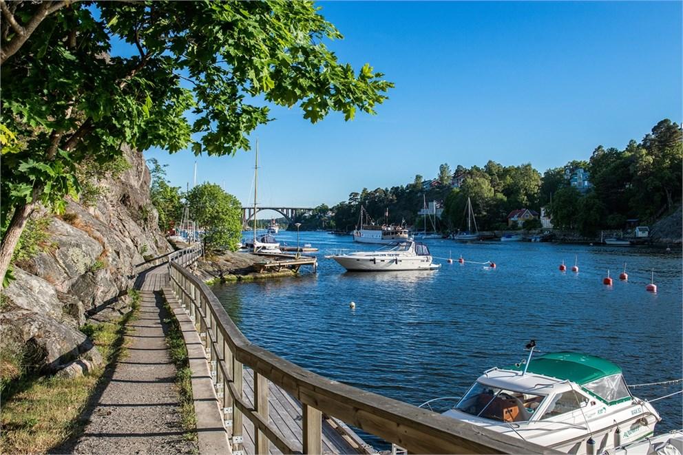 Strandpromenaden vid Lilla Björknäs