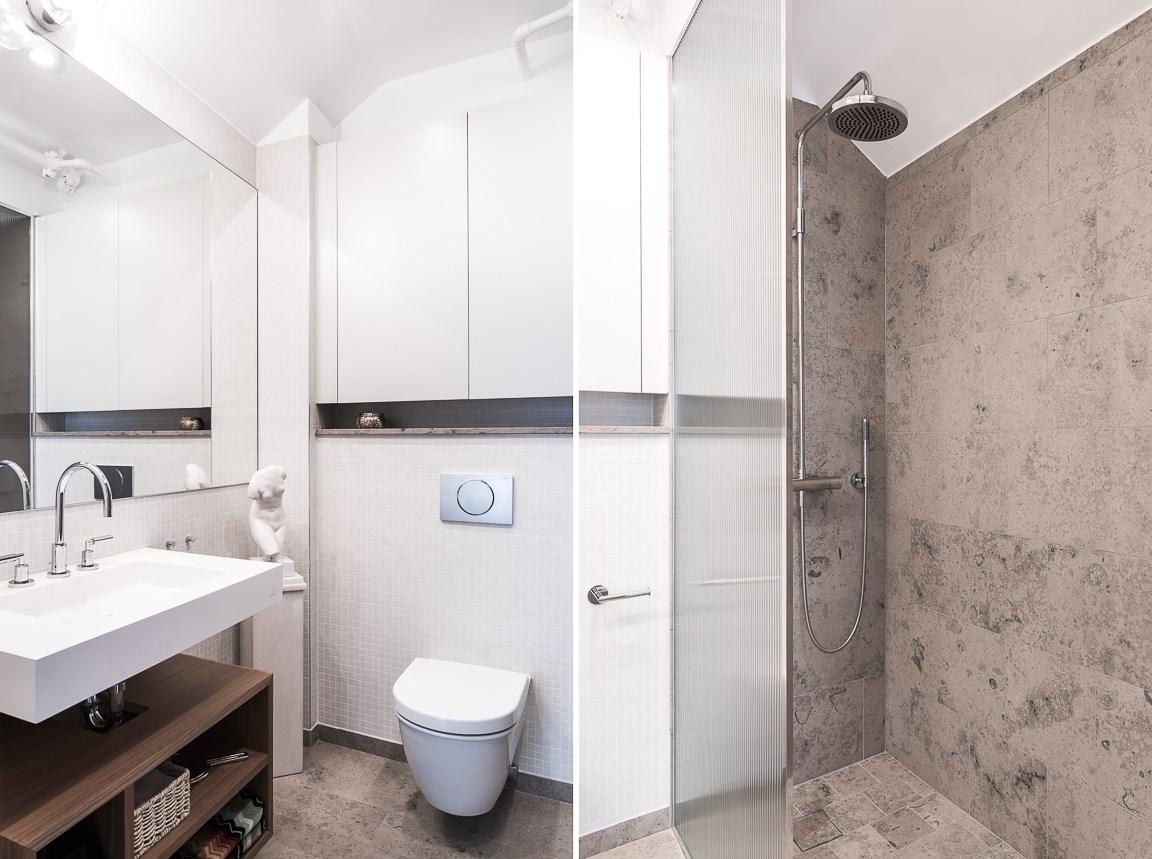 Badrum övre plan med dusch