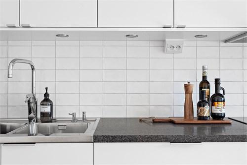 Granitbänkskiva i köket