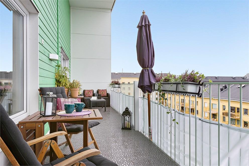 Milsvid utsikt från terrass