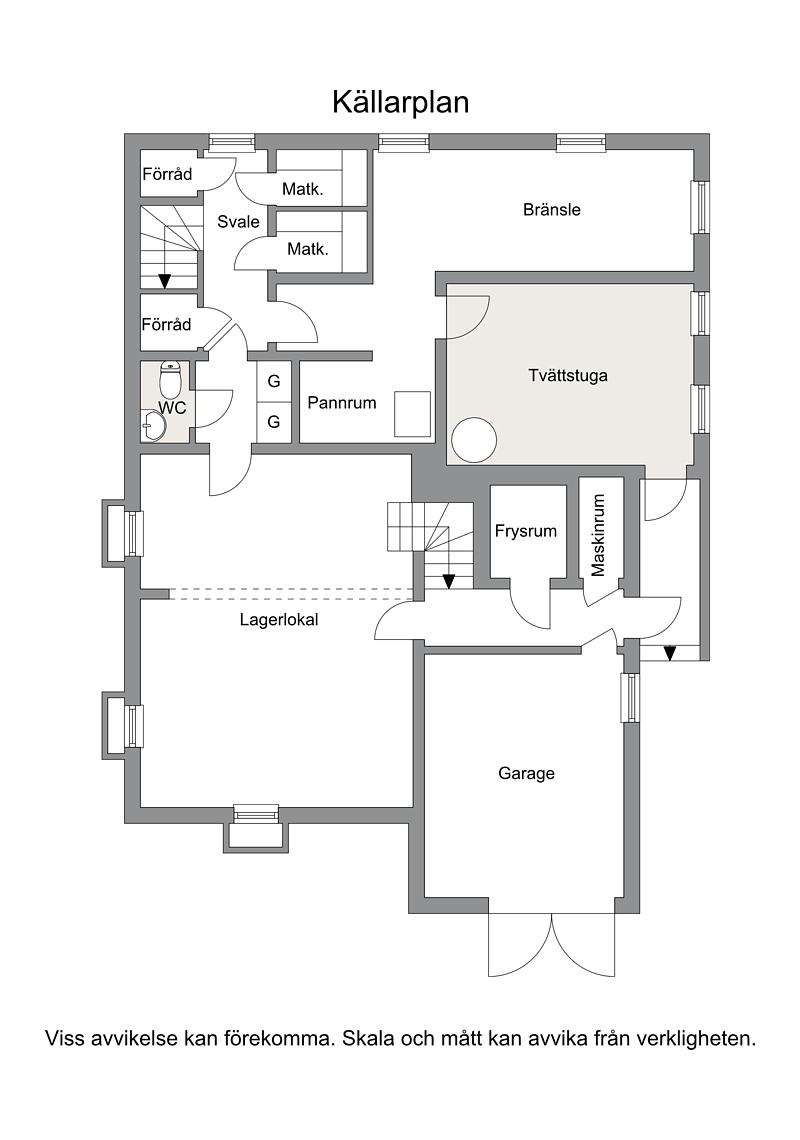 Planritning källarvåning