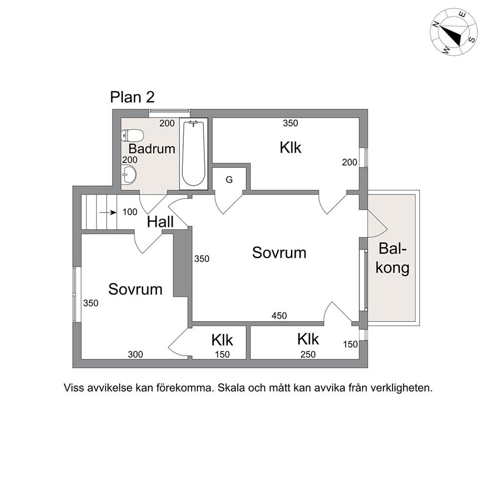 Planlösning - Ovanplan