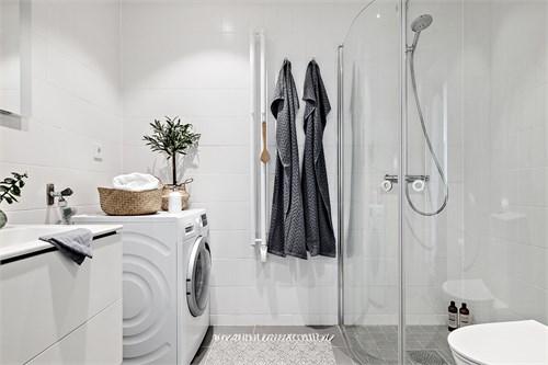 Fina materialval i samtliga  badrum