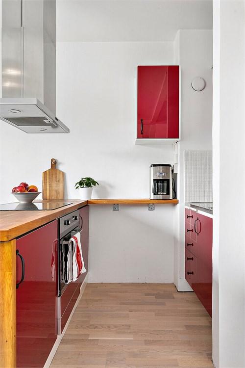 Utbyggt kök med stora arbetsytor
