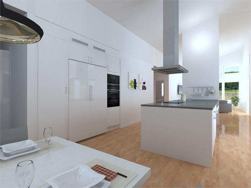 Kök i huset på 107,5 kvm.