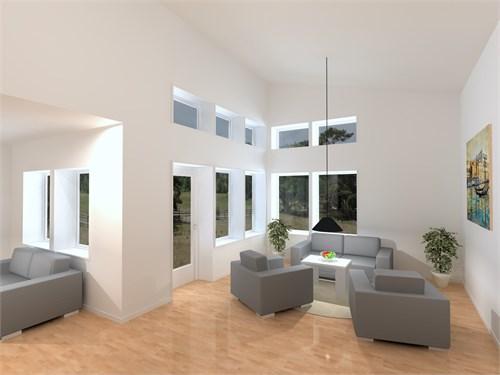 Vardagsrum i huset på 133,6 kvm.