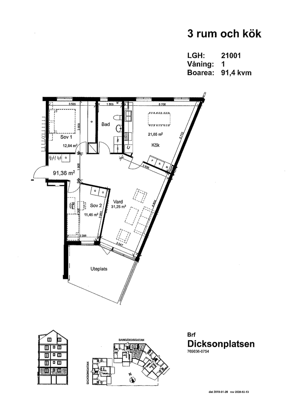 Bangårdsgatan 7, vån 1