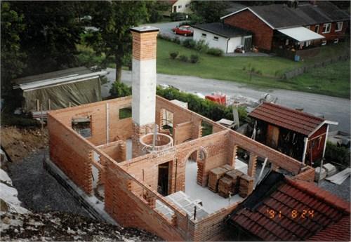 Bild från bygget