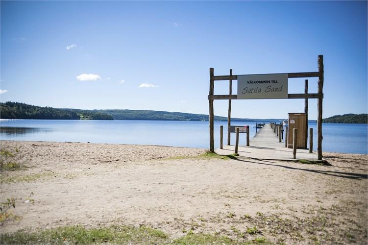 Sätila Sand -  badplats vid Lygnen