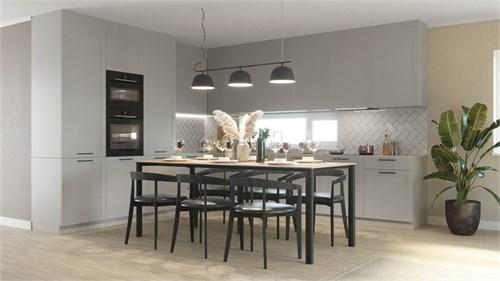 Kök grå lucka - 3D rendering